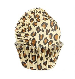 Baked with Love Cupcake cups - Leopard foil - 25st