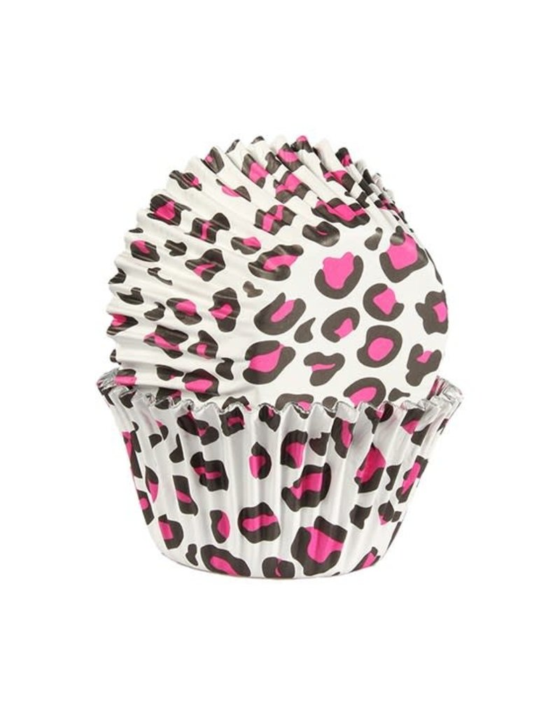 Baked with Love Cupcake cups - Leopard pink foil - 25st