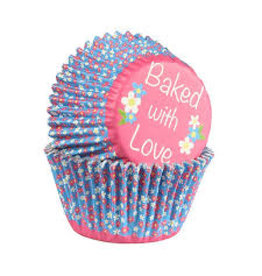 Baked with Love Cupcake cups - Daisy foil - 25st