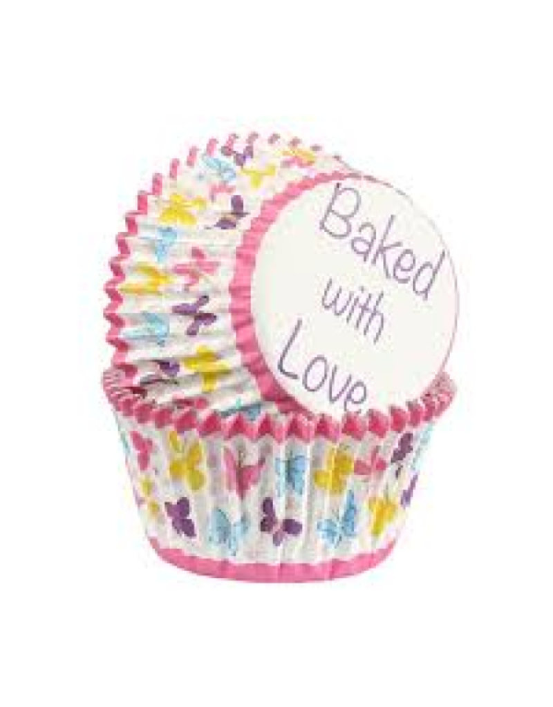 Baked with Love Cupcake cups - Butterlfy - 25st