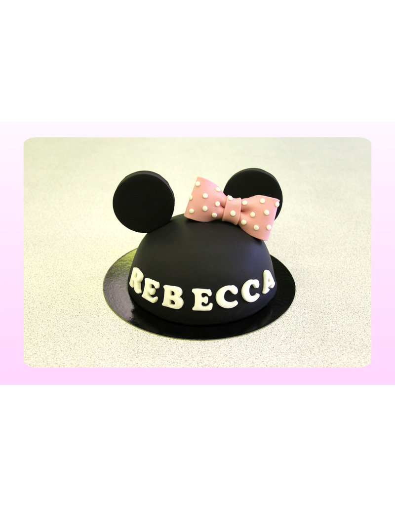1. Sweet Planet Minnie mouse taart model 4