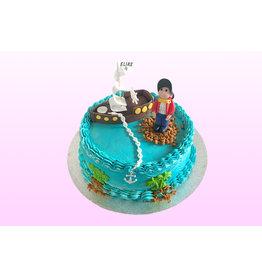 1. Sweet Planet Piraat taart model 2
