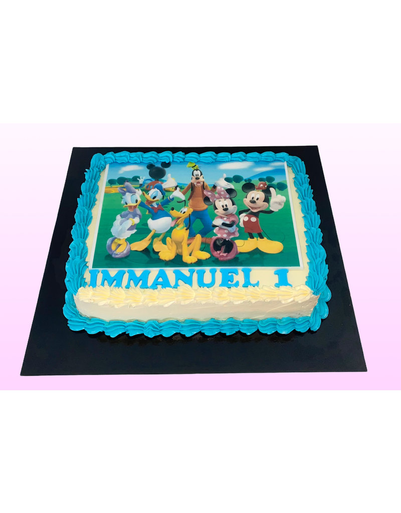 1. Sweet Planet Mickey and friends taart model 1