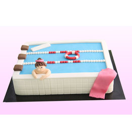 1. Sweet Planet Zwemmen taart