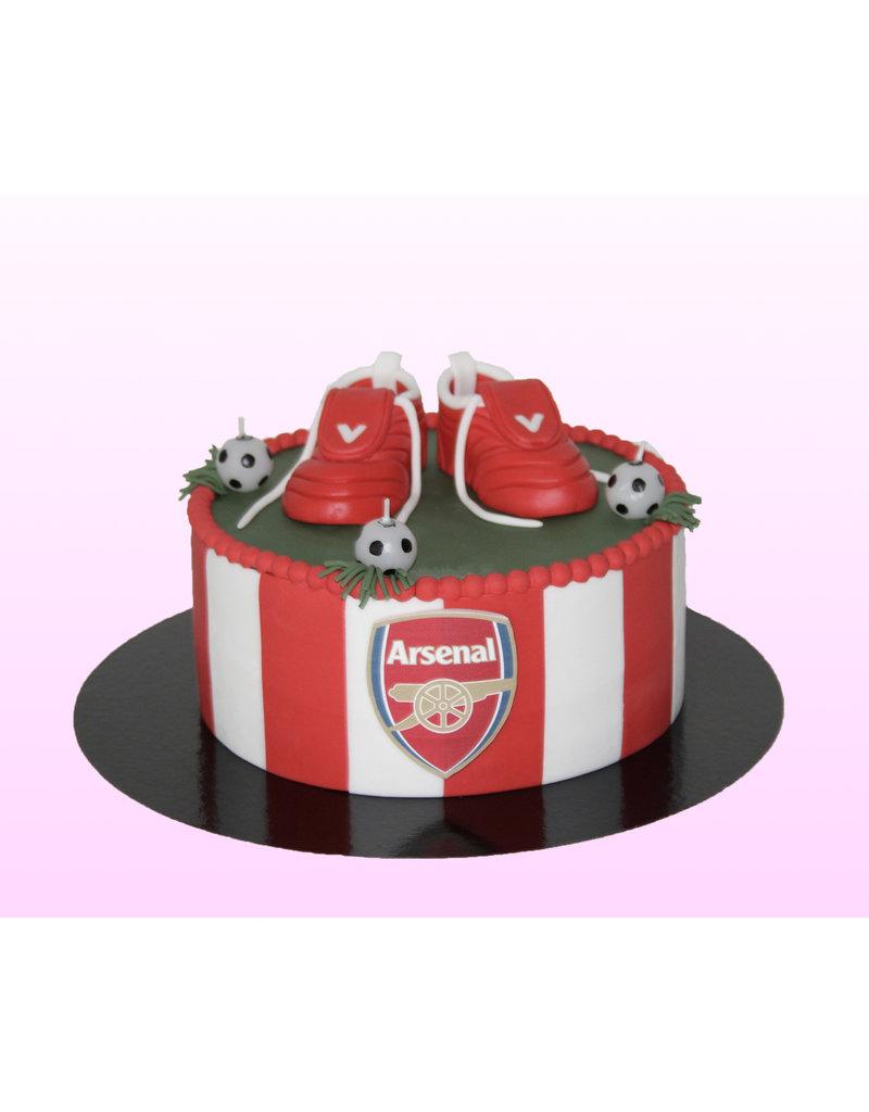 1. Sweet Planet Voetbal taart model 1