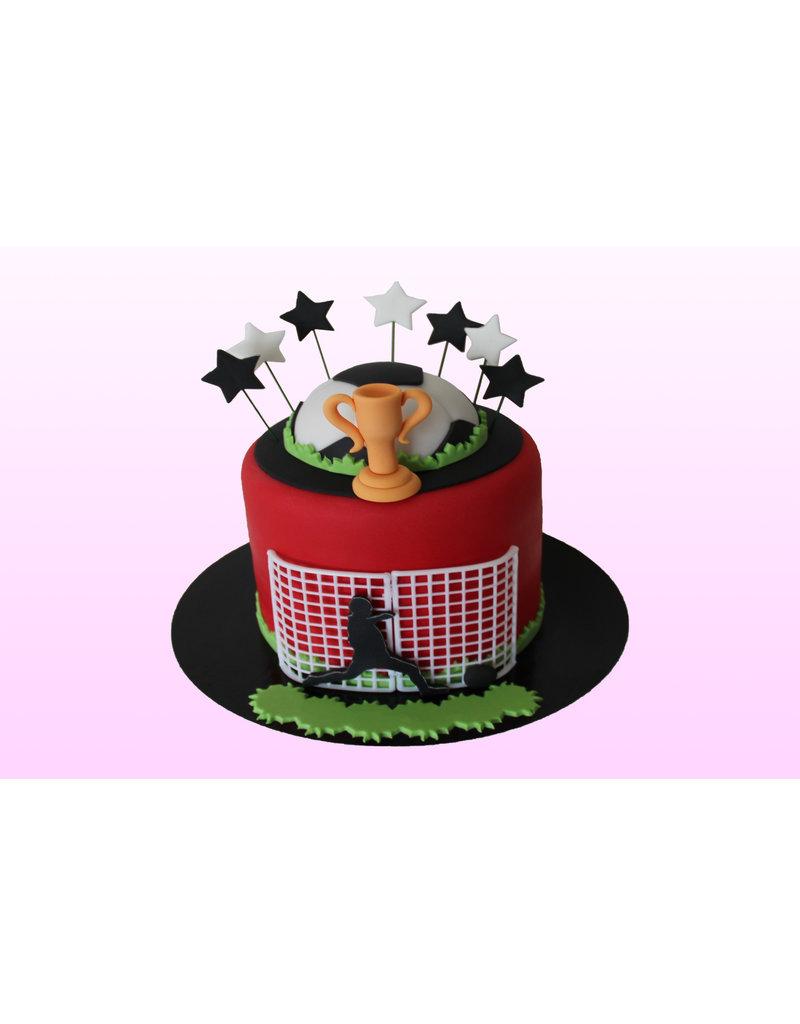 1. Sweet Planet Voetbal taart model 2
