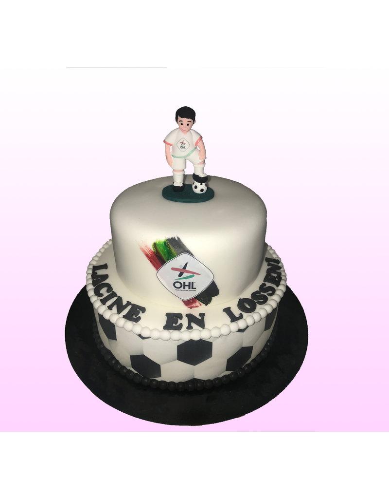 1. Sweet Planet Voetbal taart model 3