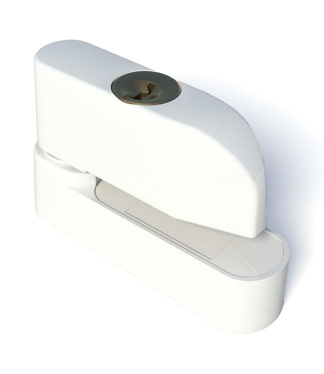 Secu Products SecuMax raamgrendel afsluitbaar (wit, RAL 9010)