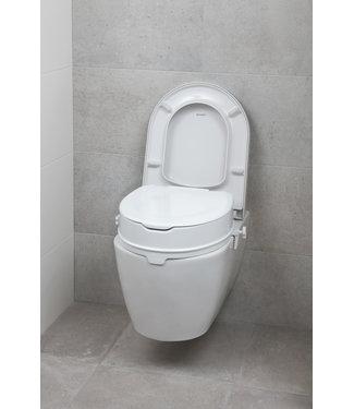 Secu Products toiletverhoger met klep (wit, H100mm)