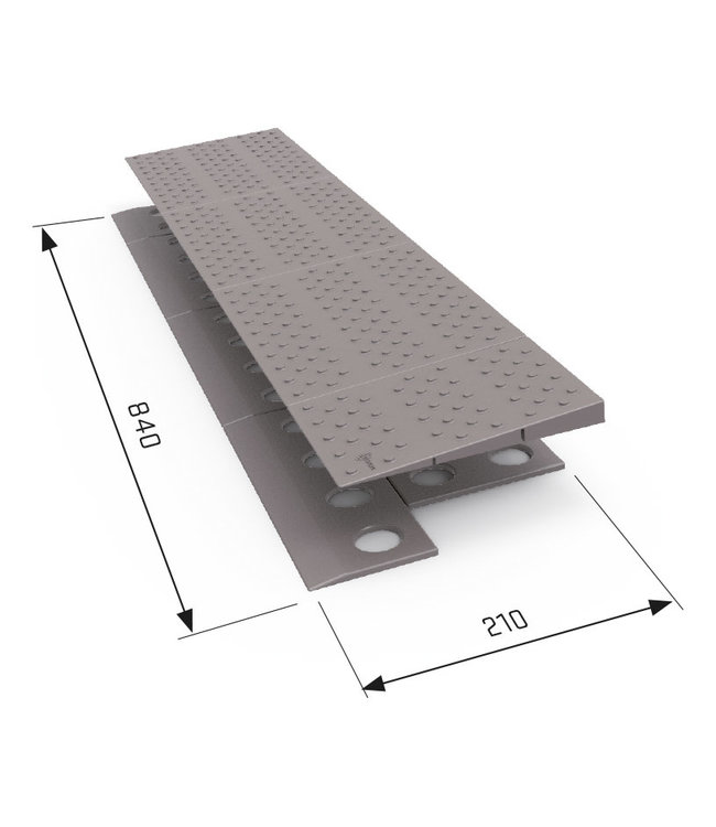 Secu Products SecuCare drempelhulp 1-laags (840x20x210mm)
