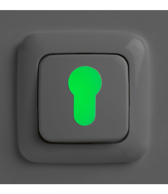 Secu Products glow in the dark markering stickers (set van 3)