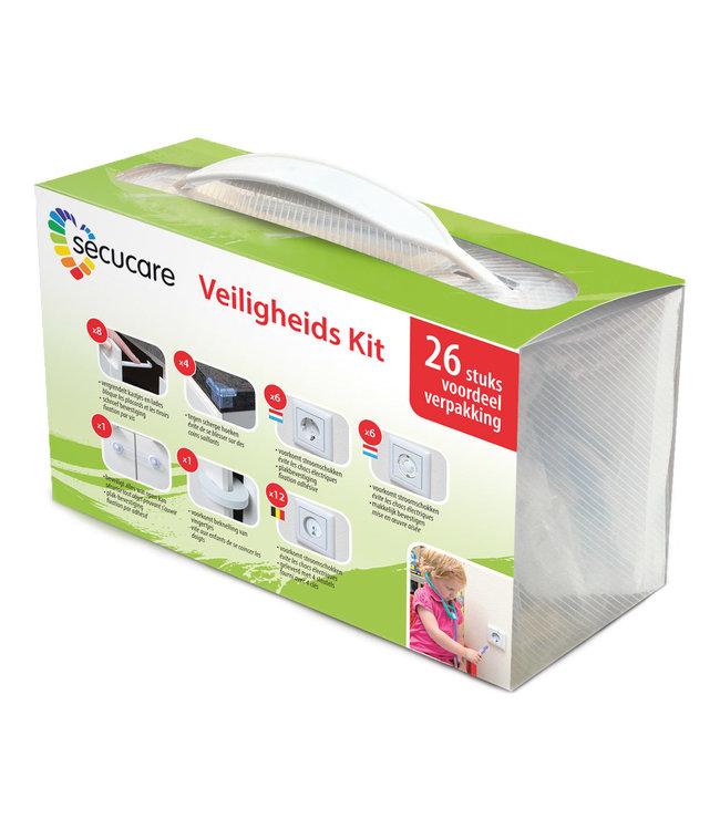 Secu Products SecuCare veiligheidskit voor kinderen (wit, transparant, 26 stuks)