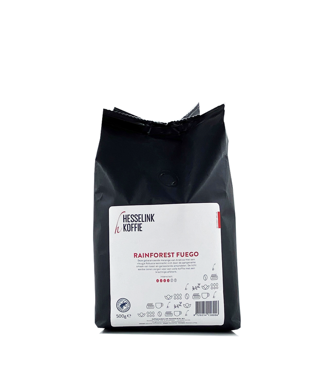 Hesselink Koffie Rainforest Fuego 500 gram bonen