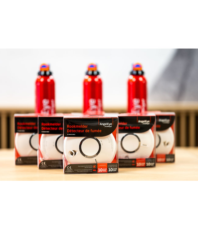 Quality Creations International 2 rookmelders + gratis sprayschuimblusser