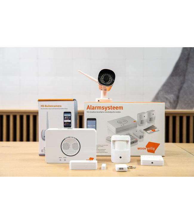 Woonveilig Alarmstartpakket + gratis buitencamera
