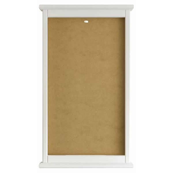 Contemporary beech wood frame white