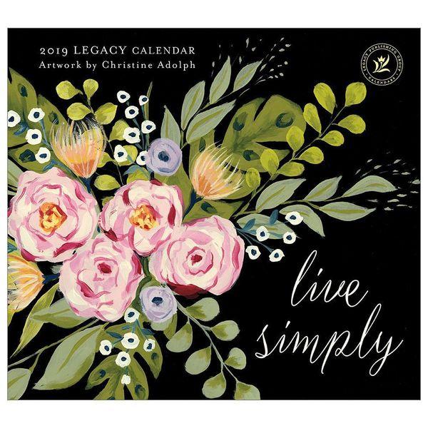 LEGACY LIVE SIMPLY 2019 Wall Calendar