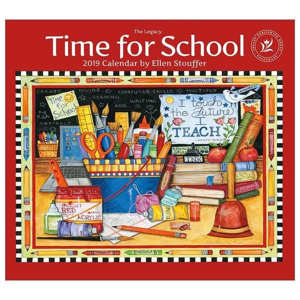 LEGACY TIME FOR SCHOOL 2019 Wall Calendar