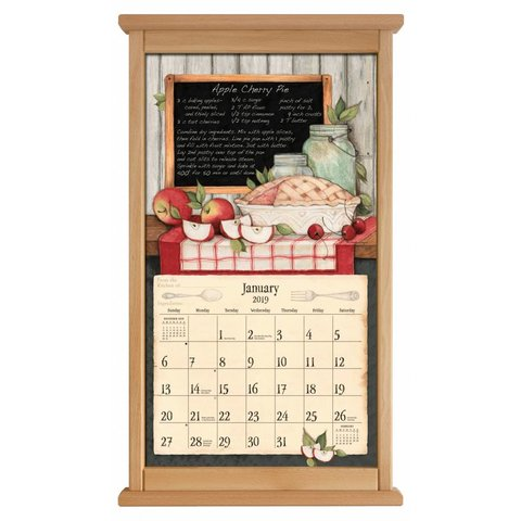Kalenderlijst recht naturel