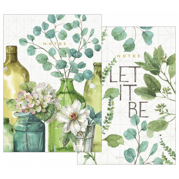 LEGACY GREENERY BOTTLES notebook set