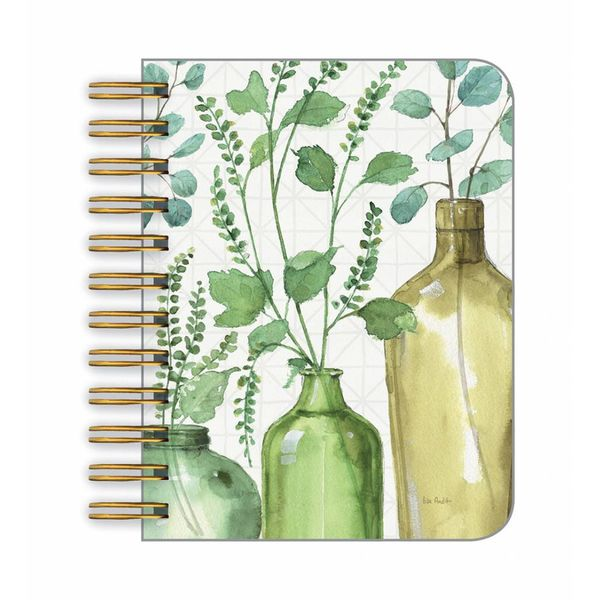 LEGACY BOTTLES AND LEAVES little spiral book
