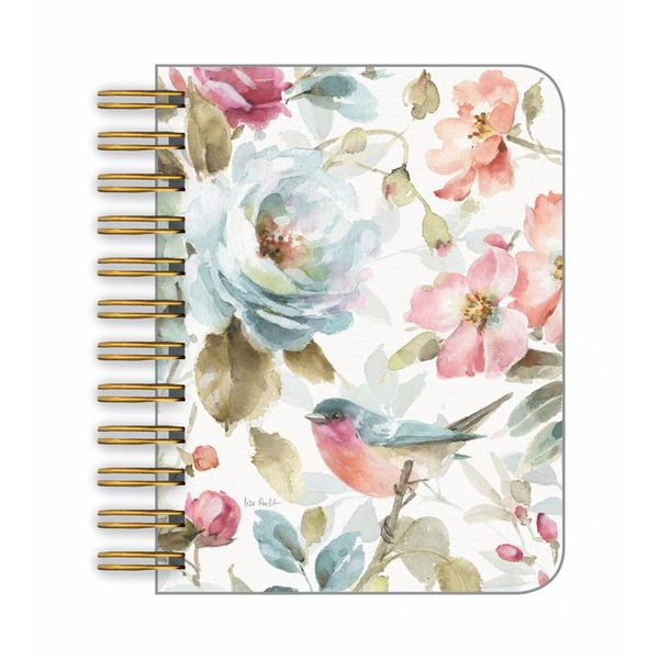 LEGACY FLORAL BLUE BIRD little spiral book