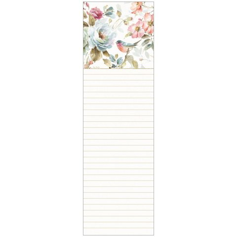 Listpad FLORAL BLUE BIRD