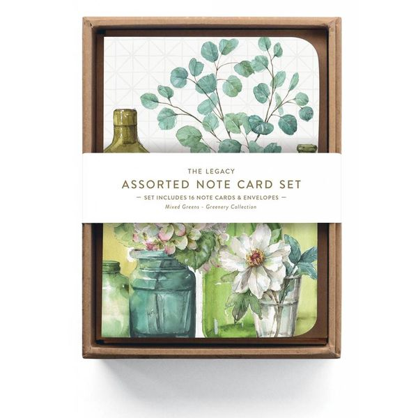 LEGACY GREENERY BOTTLES Assorted note cards