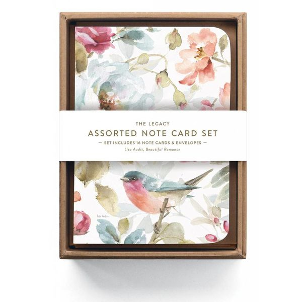 LEGACY FLORAL BLUE BIRD Assorted note cards