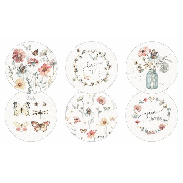 LEGACY BUTTERFLY GARDEN round coaster set of 6