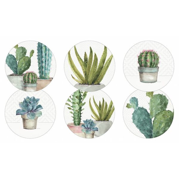Legacy CACTUS TRIO 6 round corc backed coasters