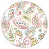 FLORAL BLUE BIRD 6 round corc backed coasters