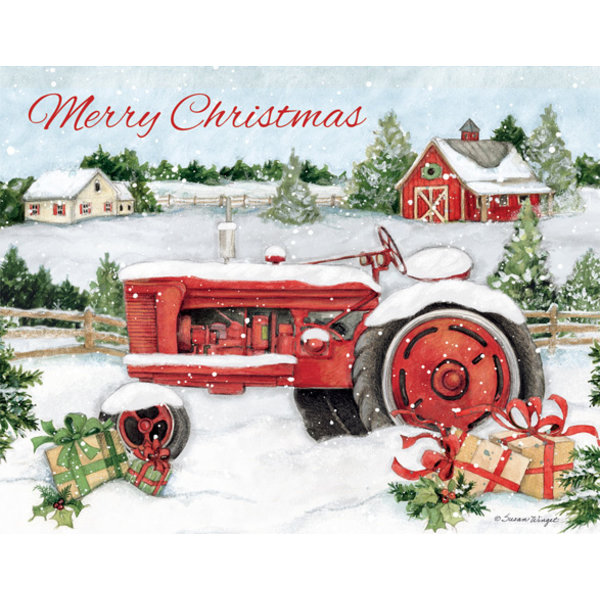 Lang Snowy Tractor  Boxed Christmas Cards