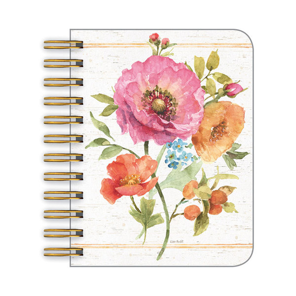 Legacy Colorful Floral little spiral book