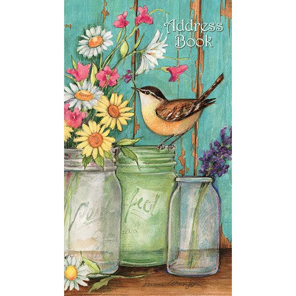 Lang Flower Jars Taschenadressbuch