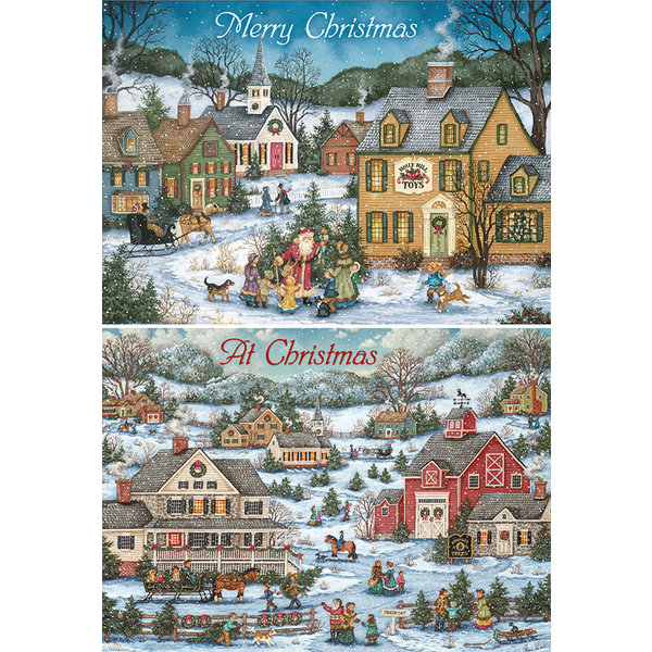 Legacy Country Village Christmas assorti Kerstkaarten.