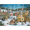 Country Village Christmas assorted Holiday Cards.