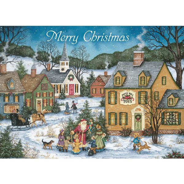 Legacy Country Village Christmas Sortiment Weihnachtskarten.
