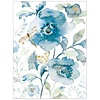 Blue Flowers & Dragonfly Note Card