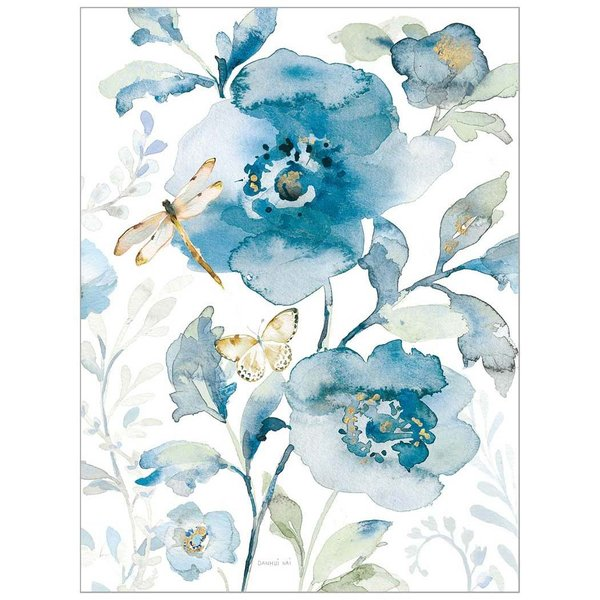 Legacy Blue Flowers & Dragonfly Note Card