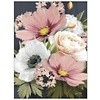 Pink and White Floral Note Card