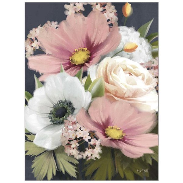 Legacy Pink and White Floral Note Card
