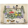 Toolbox and Birds Note Card