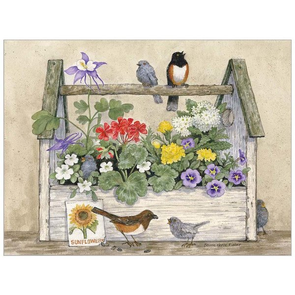 Legacy Toolbox and Birds Note Card
