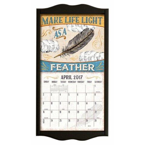 Kalenderlijst classic zwart