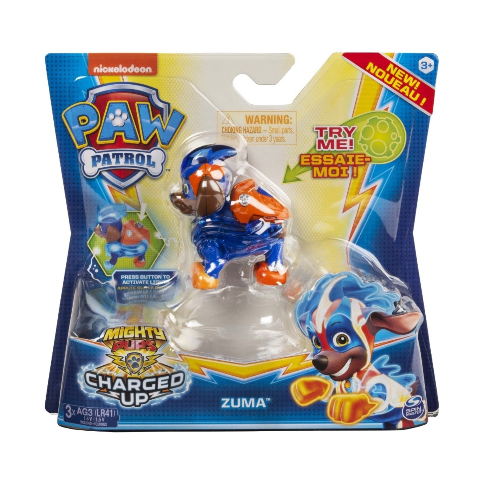 Spin Master PAW Patrol Mighty Pups Charged Up figuur Zuma