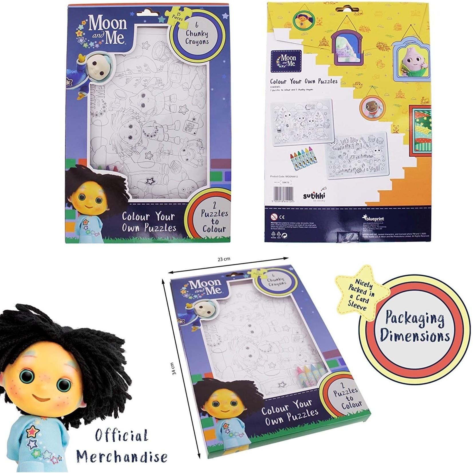 Blueprint Collections Maan en Ik Kleur je eigen Puzzel