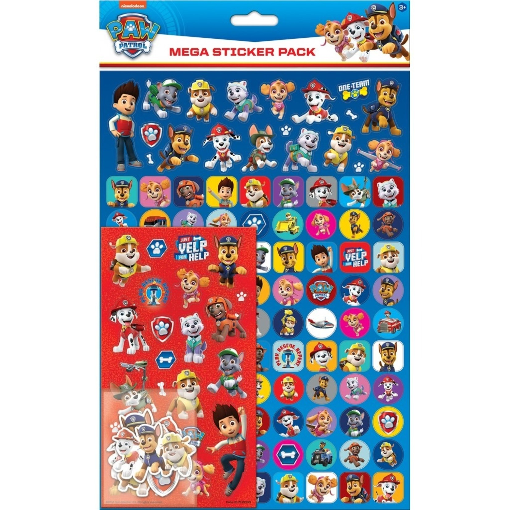 Paper Projects Paw Patrol  Sticker Pack