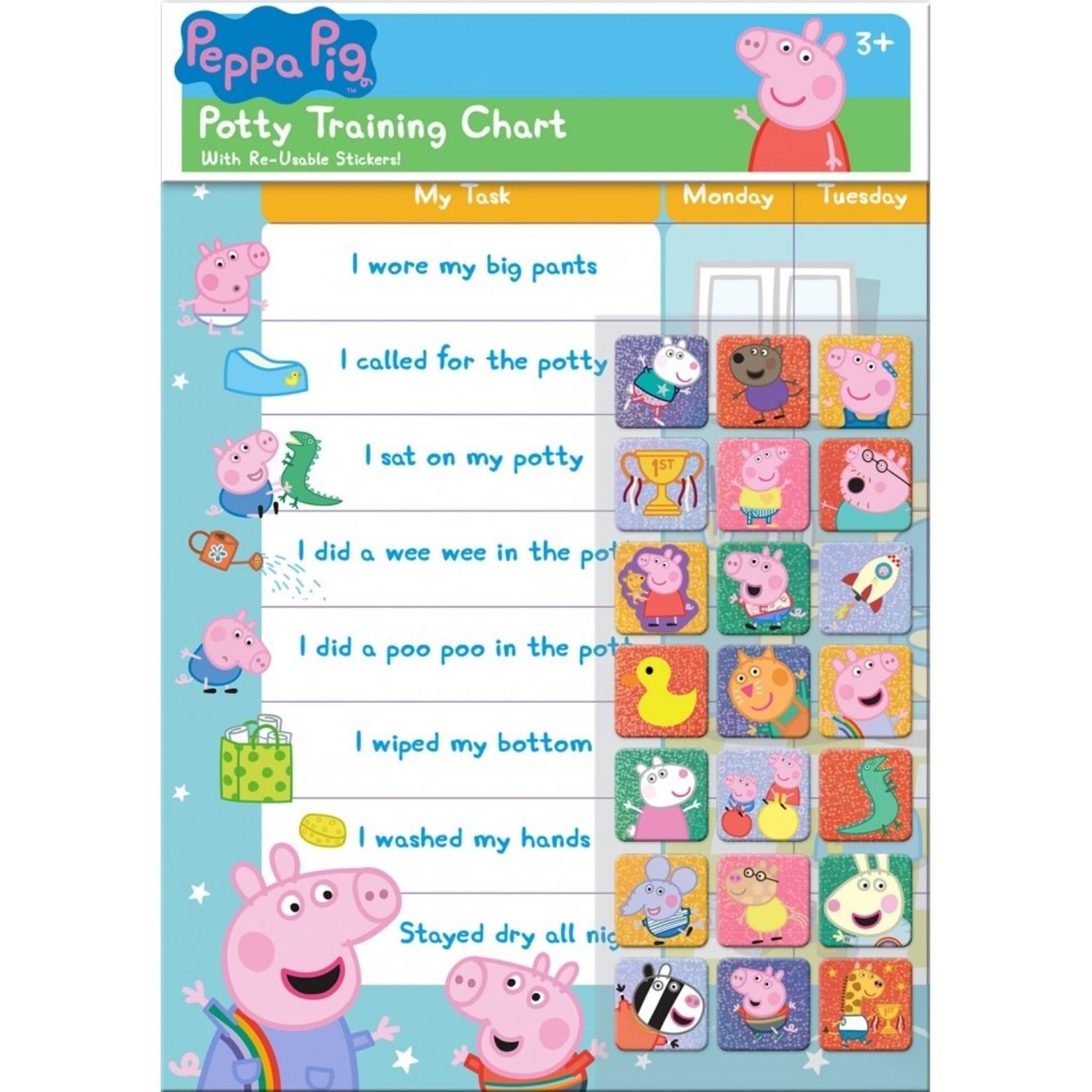 Paper Projects Peppa Potjestraining Beloningskaart (Engels)