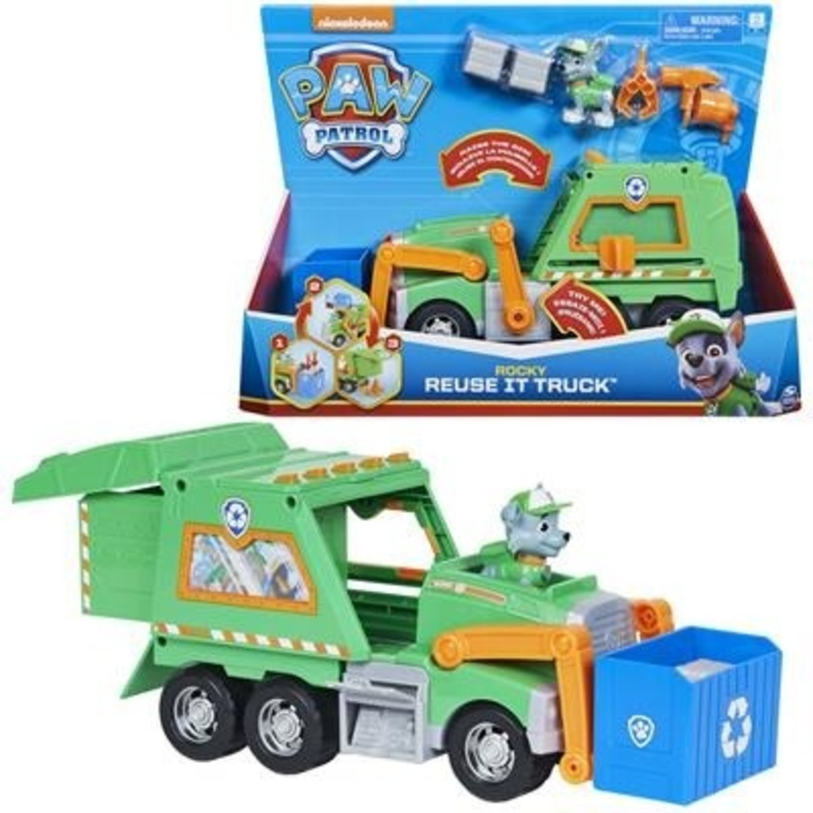 Spin Master Paw Patrol Rocky's Re-Use It Truck
